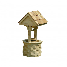 Цветочница колодец из дерева