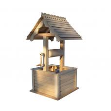 Цветочница колодец деревянная