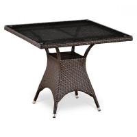 Плетеный стол T220BBT-W52-90x90 Brown