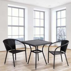 Комплект плетеной мебели T282BNS/Y137C-W53 Brown 2Pcs