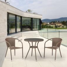Комплект плетеной мебели T282ANT/Y137C-W56 Light brown