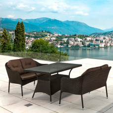 Комплект плетеной мебели T198A/S54A-W53 Brown