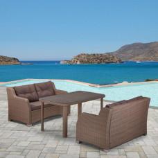Комплект плетеной мебели T51B/S51B-W60 Light brown