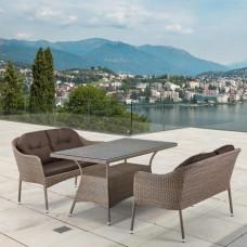 Комплект плетеной мебели T198B/S54B-W56 Light brown