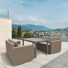 Комплект плетеной мебели T256B/S52B-W56 Light brown