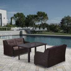 Комплект плетеной мебели T51A/S51A-W53 Brown