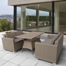 Комплект плетеной мебели T198B/S52B-W56 Light brown
