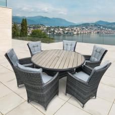 Комплект плетеной мебели AFM-190 Grey/Light Blue 6Pcs