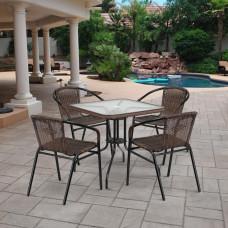 Комплект мебели Асоль-3 TLH-037BR2/070SR-70х70 R-05 Brown (4+1)