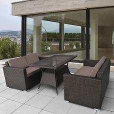 Комплект плетеной мебели T198A/S52A-W53 Brown
