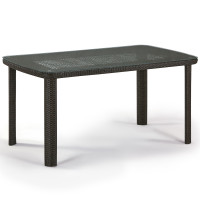 Плетеный стол T51A-W53-150x85 Brown
