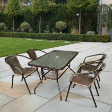 Комплект мебели Николь-3C TLH-037AR3/CDT016-120х70 Cappuccino (4+1)