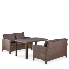 Комплект плетеной мебели T51A/S58A-W773 Brown
