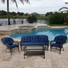 Комплект плетеной мебели LV216 Brown/Blue