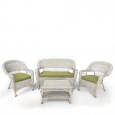 Комплект плетеной мебели LV130 White/Green