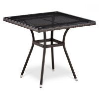 Плетеный стол T283BNT-W2390-80х80 Brown