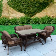 Комплект плетеной мебели T130Br/LV520BB-Brown/Beige