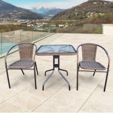 Комплект мебели Асоль-2A TLH-037AR3/060SR-60х60 Cappuccino (2+1).