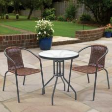Комплект мебели Асоль-CDT TLH-039/CDT01-D60 Brown (2+1)
