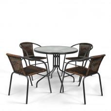 Комплект мебели Николь-1CB CDC01/087-D80 Brown 4Pcs