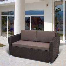 Плетеный диван S52A-W53 Brown