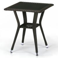 Плетеный стол T25-W53-50x50 Brown