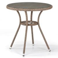 Плетеный стол T282ANT-W56-D72 Light Brown