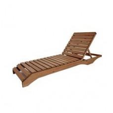 Пляжный лежак из дерева