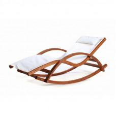 Кресло качалка шезлонг из дерева