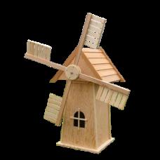Мельница деревянная садовая