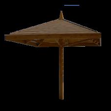 Пляжный зонт из дерева