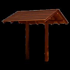 Навес теневой из дерева