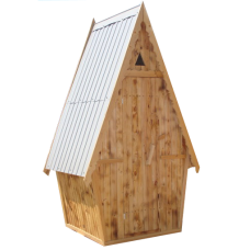 Туалет деревянный окрашенный